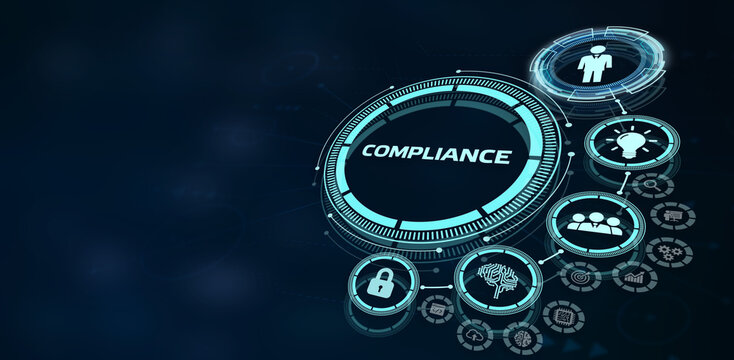 Business, Technology, Internet and network concept. Compliance Rules Law Regulation Policy.