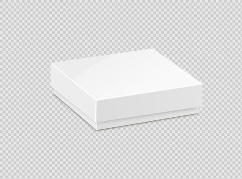 Product Cardboard Package Box. Illustration Isolated On White Background.