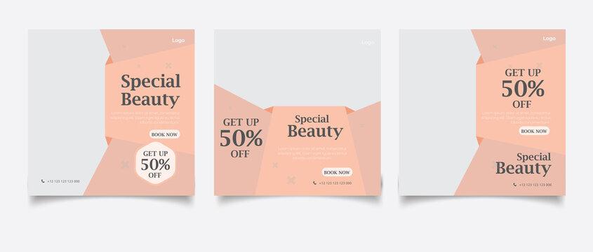 Beauty center social media post template