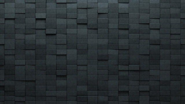 Rectangle, 3D Wall background with tiles. Concrete, tile Wallpaper with Polished, Futuristic blocks. 3D Render