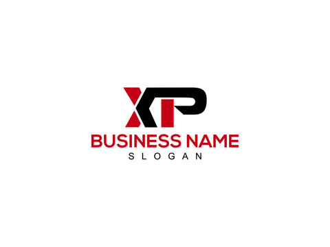 XP Letter Logo, xp logo icon vector for business