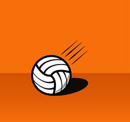 Fototapeta Lecąca piłka do siatkówki blisko podłoża.