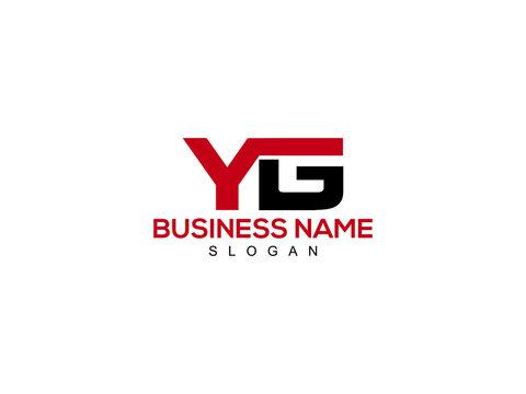 YG Letter Logo, yg logo icon vector for business
