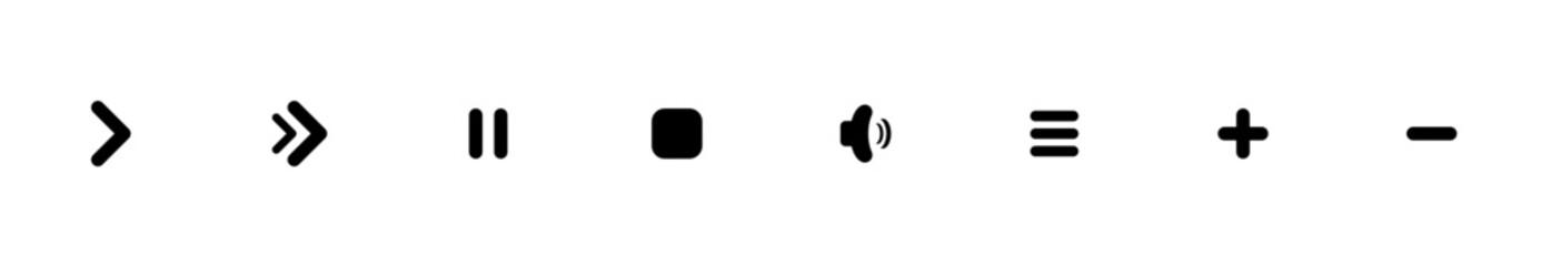 Fototapeta play music vector icon.