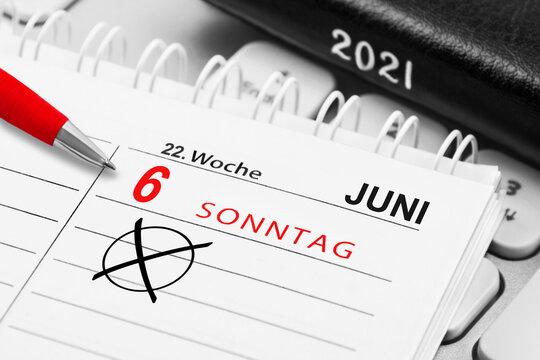 Kalender Sonntag 6. Juni  2021