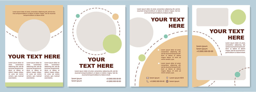 Sand colored brochure template. Flyer, booklet, leaflet print, cover design with copy space. Modern design for presentation. Vector layouts for magazines, annual reports, advertising posters