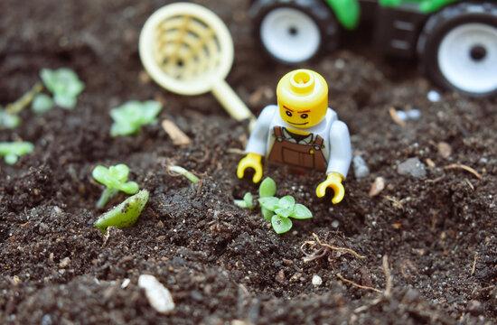 Mini figures lego farmer