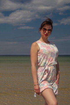 young woman enjoying a summer day