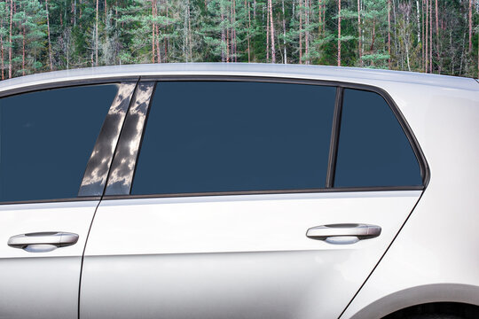 Window Car Mockup Places For Your Design, Car Decal Mock up
