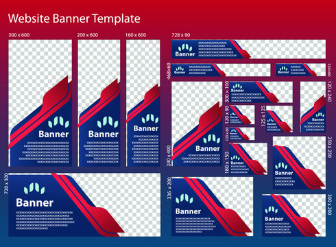 Banner template for web use or combined with online media.