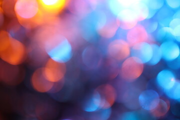 Abstract twinkled lights background with bokeh defocused white lights. Valentines Day, Party,...
