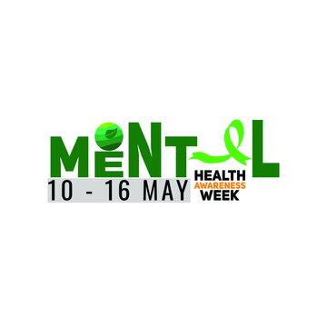 mental health awareness week web banner design. illustration vector