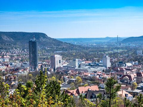 Aussicht auf die Stadt Jena in Thüringen