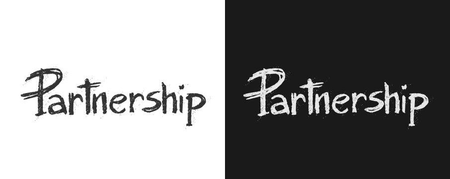 "Scritta artistica "" Partnership "" vettoriale"