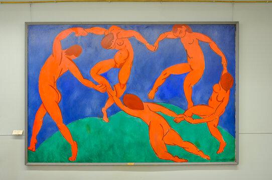Saint Petersburg, Russia - April 2021: Dance (painting by Henri Matisse) in Hermitage museum