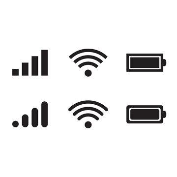 Status bar icon. Vector Illustration