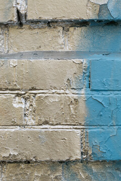Silver painted brick wall. Abstract background.