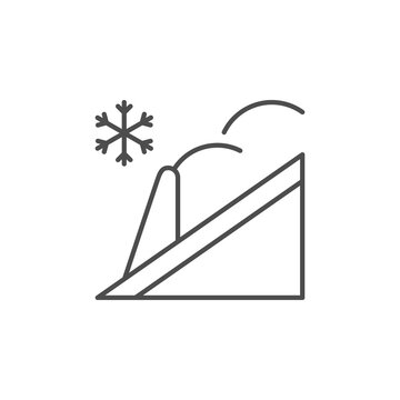 Roof snow guard line icon