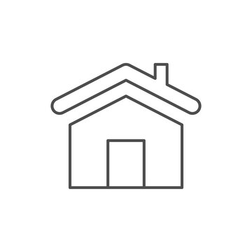 House roof line outline icon