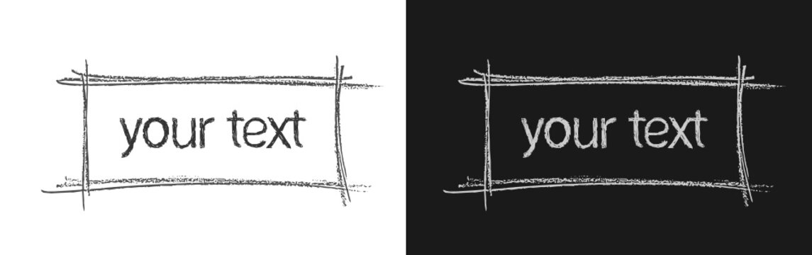 Illustrazione vettoriale con riquadro da riempire con messaggio