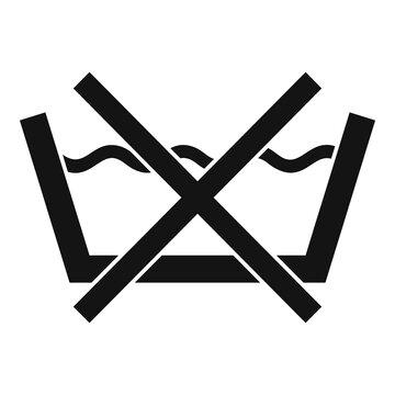 No hand wash icon, simple style