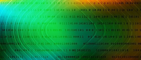 Fototapeta 0 1 matrix digits big data tech vector background with fluid gra obraz