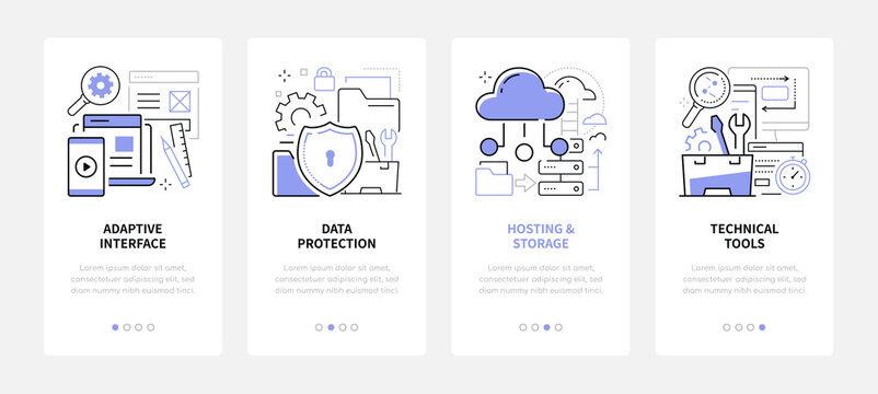 Web development - line design style web banners