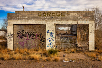 abandoned garage on old route 66