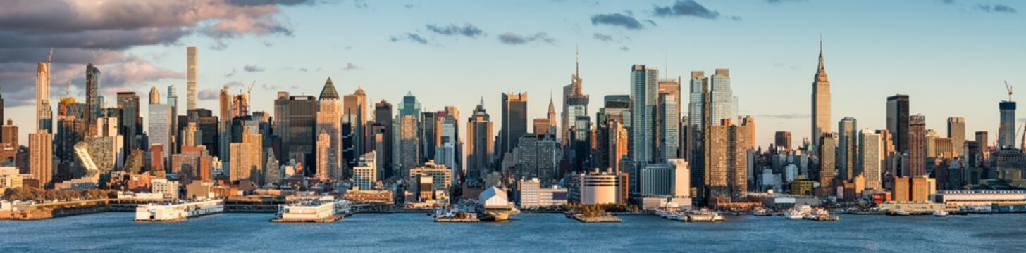 Manhattan skyline panorama, New York City, USA