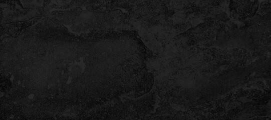Fototapeta Panorama of Dark grey black slate background or texture. Black granite slabs background
