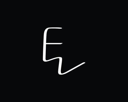 creative letter FZ or FW logo design vector template