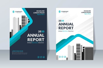 Obraz creative annual report design template - fototapety do salonu