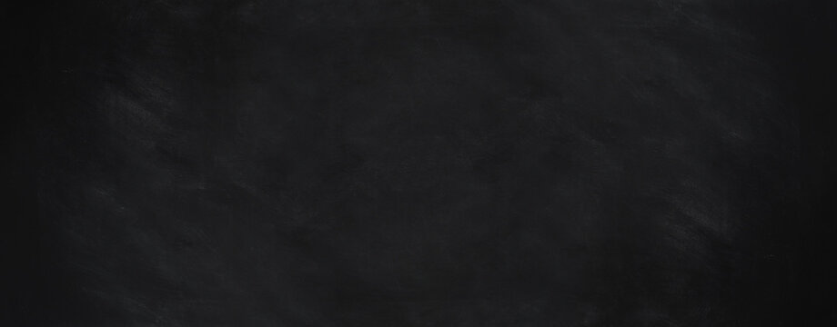 blackboard background with chalk smudge texture in wide web banner format