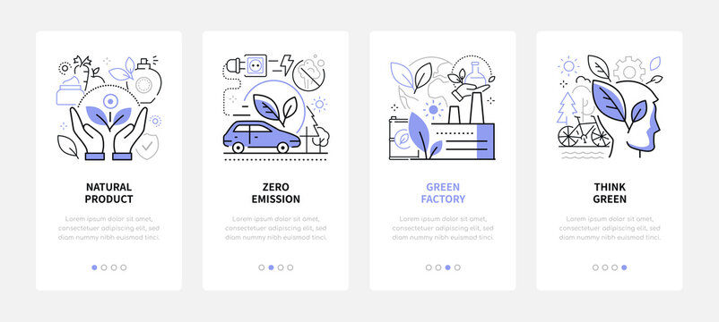Environmental conservation - modern line design style web banners