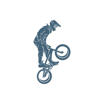 BMX design vector illustration, Creative BMX logo design concept template, symbols icons
