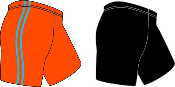 Lycra Wear Unisex Men Cycling Shorts Vectors