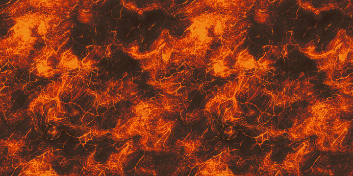 heat red cracked ground texture after eruption volcano.  Seamless magma or lava texture