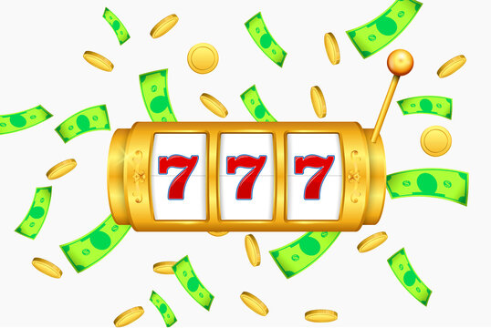 set of slot machine golden casino or golden lucky jackpot gambling machine or spin fortune casino template. eps vector