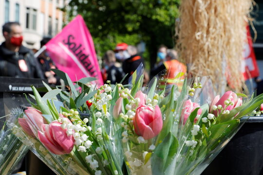 Traditional May Day march in Lille