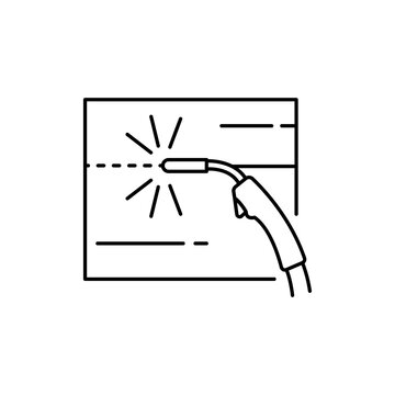 Welding olor line icon. Pictogram for web page, mobile app, promo.