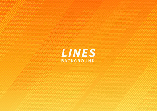 Abstract orange and yellow geometric modern stripe line background. Modern background template.