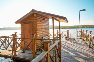 Places equipped for recreation and swimming in the Tuloma River (Kola Peninsula, Murmansk Region)This is the European part of Russia, the Northern Region (beyond the Arctic Circle)