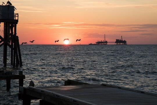sunrise over Mobile Bay