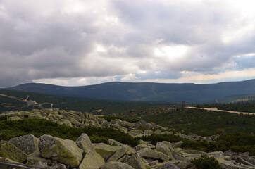 Fototapeta landscape with clouds obraz
