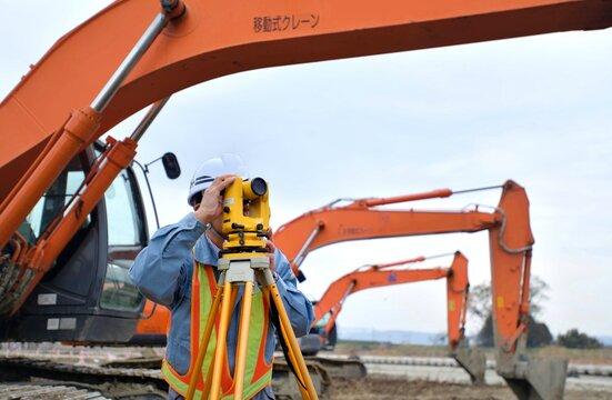 建設工事・測量管理するエンジニア