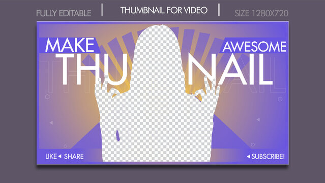 YouTube Thumbnail Design Templates for Youtubers. Fully Customizable YouTube Thumbnail and Perfect for all kind of YouTube Video.