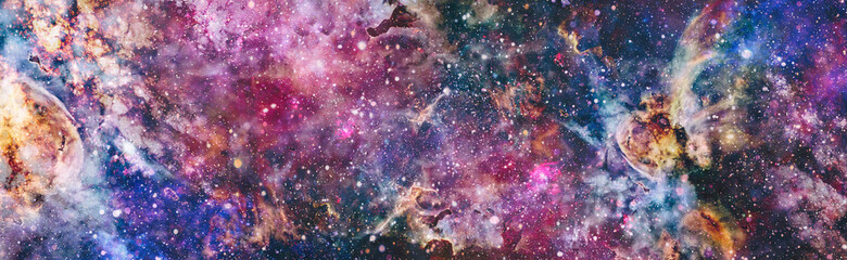 Obraz Mystical beautiful space. Unforgettable diverse space background Elements of this image furnished by NASA - fototapety do salonu