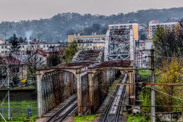 Fototapeta Most kolejowy w Przemyślu