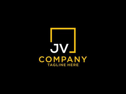 JV Initial, jv Letter Design For New Business