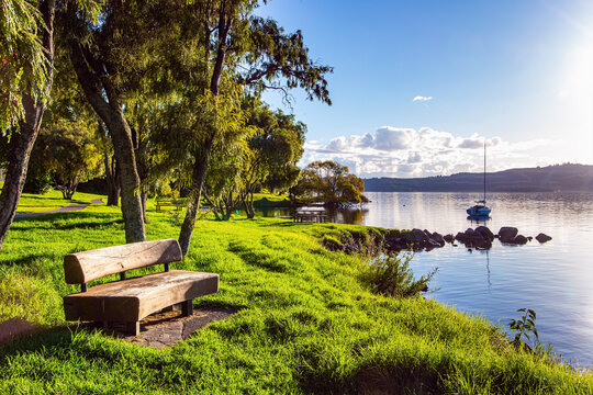 The largest Lake Taupo